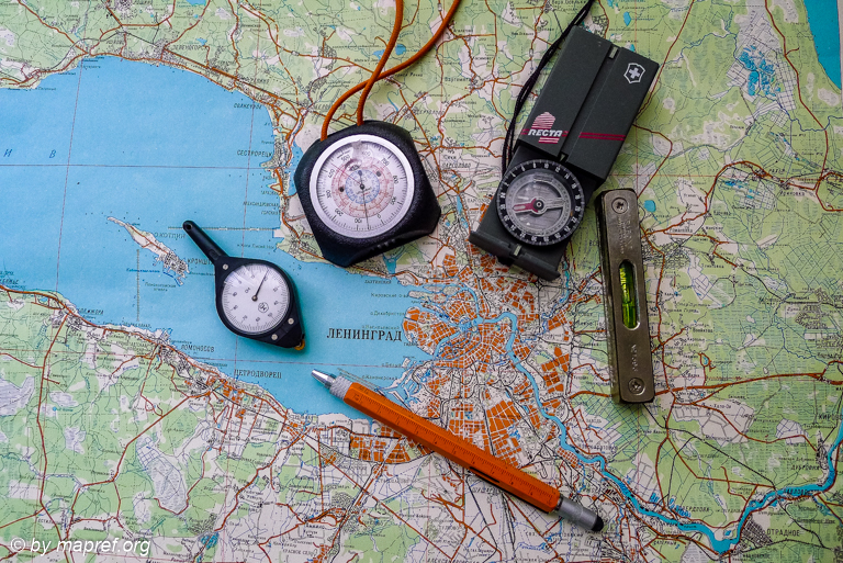 Printed Russian Map and Classical Cartometry Tools